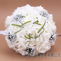 lavender silk - Beautiful Bridal Wedding Bouquet Wedding Bouquet Lavender Lilac Perfect Wedding Favors Hand Holding Flower Artificial Flowers Adornment Silk