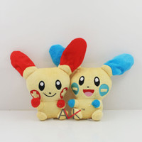 "Unisex 8-11 Years Movies & TV Movie Pokemon High Quality Pocket Monster Plush Toys dolls Poke Plush 6.5"" Rabbit Doll Anime Figure Stuffed Animal Toy Kids Gift Red Blue"