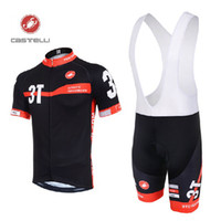 Wholesale Castelli Cycling Jerseys Set Short Sleeve Road Bike Wear Castelli Outdoor Pro Sports Riding Clothing Black Polyester Bicycle Skinsuit