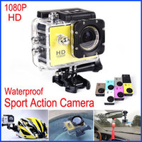 HDD / Flash Memory bicycle camcorder - Sports Helmet Camera P Full HD DVR Car Recorder Sport Camera Diving Bicycle Waterproof Sport Action Camcorder Car DVR SJ4000