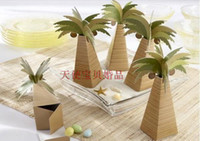 Food bamboo coconut - Online retail Creative DIY Palm Tree Design Storage Candy Box Coconut tree Candy Boxes