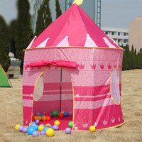 Wholesale Prince and Princess Palace Castle Children Playing Indoor Outdoor Toy Tent colors mixed DHL FEDEX