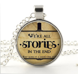Doctor Who Necklace Pendant Quote Jewelry Charm Silver Dr Who Gift Ideas
