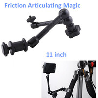 "OEM SY-R047 Yes 11"" inch Friction Articulating Magic Arm Clamp Adjustable 1 4"" Hot Shot Connector Arm for Camera LCD Monitor LED light"
