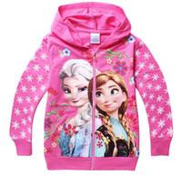 Spring / Autumn babies brands coat - Elsa Anna Princess Hoodies Children Outerwear coats Brand Cartoon Jackets Winter Autumn Baby Kids Hoodies Girls Clothing p l