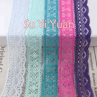 Wholesale 25 yard amp mm width Elastic Stretch Lace trim DIY sewing garment clothes accessories