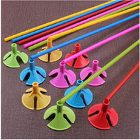 Wholesale 27CM Gas club Care set festive wedding decoration wedding supplies Air balloon prop pole accessories handheld stick balloon Cup