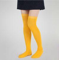 thigh high socks - Over The Knee Socks Thigh High Cotton Sock Thinner New Style Women stockings Knee High Sock