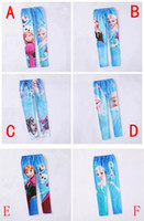 Leggings & Tights Girl Spring / Autumn 6pcs lot Free shipping princess Elsa Anna girls autumn leggings Frozen children cartoon long pants kids lovely elastic tights