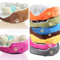 Wholesale S095 Multi color Soft Fleece Pet Dog Puppy Cat Warm Bed House Plush Cozy Nest Mat Pad Colors