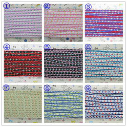 Wholesale 3 inch Crochet stitched embroidered jacquard ribbon y hair bow diy decoration OEM mm P1980