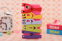 Wholesale Apple s new happy smiley cartoon s iphone4s mobile phone sets of silicone soft shell protective sleeve tide