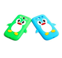 For Apple iPhone Metal Silicone Penguin Penguin Silicone Samsung i9300 Samsung I9300 mobile phone shell mobile phone sets super cheap wholesale silicone