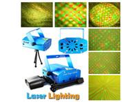 Wholesale new multi pattern Mini Laser Stage Light mW Mini Green Red Laser DJ Party Stage Light Black Disco Dance Floor Lights