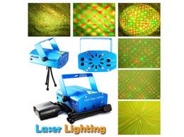 Wholesale-new multi pattern Mini Laser Stage Light 50pcs lot 150mW Mini Green&Red Laser DJ Party Stage Light Black Disco Dance Floor Lights