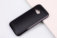 Wholesale Cell Phone Accessories Carbon Fiber Leather Back Case for HTC One Mini M8 Mini