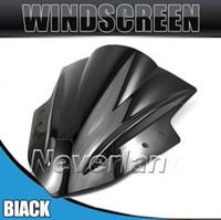 Wholesale Windscreens black blue Transparent Double Bubble Windshield WindScreen for Kawasaki Ninja300 EX300 Clear
