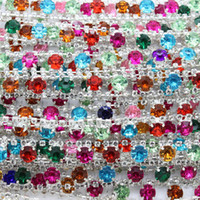 Wholesale Rhinestone crystal resin chain strip trimming jewelry shiny accessories diy decoration OEM mm P2312