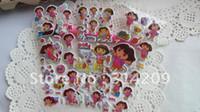 Wholesale cm Lovely Dora Puffy Stickers Sheet Kids Kawaii Stickers sheets
