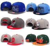 Wholesale free shinppingScarcity NCAA baseball cap flat brimmed hat hip hop snapback hat bboy hip hop League of American college students Hat