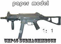 Wholesale Paper Model Gun Pistol Scale UMP45 Submachinegun Handmade DIY Gun Models Educational toys