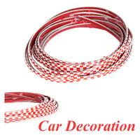 Wholesale 5M Car Decoration Sticker Thread Auto Interior Exterior Body Modify Decal Red amp White