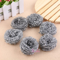 Wholesale Dishwashing Shuaguo never rust kitchen scourer stainless steel ball brush pot brush steel ball into the decontamination
