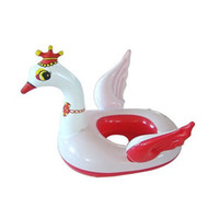 Cotton Front Carry Shoulders Kids Little Swan Swim Pool Baby Water Pool Swimming Ring,Red