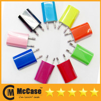 Wholesale Colorful V A mAh EU US Plug USB Power Travel Adapter AC Wall Charger For iPhone S S Samsung HTC Cell Phone DHL Free