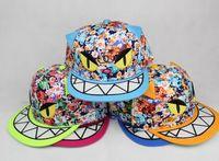 Wholesale NEW Colorful Cotton ChildrenHat Children s monster flat along the baseball caps kids Baby Hip hop hat Children s Caps amp Hats