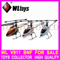 Wholesale Colors WL V911 BNF Just Helicopter Body Have No Transmitter G CH Remote Control Mini Single Propeller RC Helicopter Drone