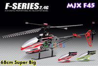 other other other Wholesale-Free Shipping MJX F45 F645 70cm Big RC Remote Control Toys Helicopter 2.4G 4 Channel With Gyro Single-blade LCD Transmitter