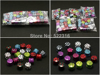 Wholesale 120pcs print saddle ear plugs double flare ear gauges stretcher expander zebra star skull leopard leaf logo picture mix