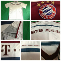 Wholesale Bayern Munich Soccer Jerseys Football Jersey Uniforms Kits Season Clothing Discount T Shirts Cheap Thailand Custom Tops Wears Away