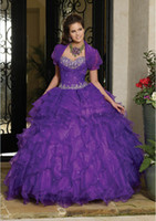 Style 2015 Stunning Bright Purple Sweetheart Embroidery Bead...