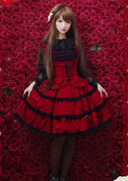 2016 New Noble Red Sweet Lolita Dress For Ladies