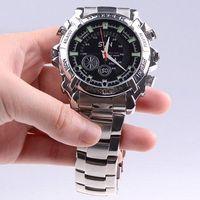 Wholesale GB Waterproof P IR Stainless Steel Spy Watch DVR Support Night Vision SPC_340