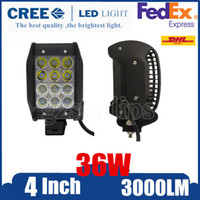 Wholesale 2pcs W CREE LED Work Light Bar Spot Flood Combo Beam Off road Driving Fog ATV SUV Quad Row