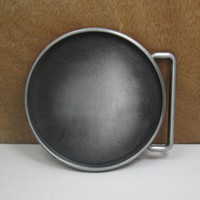 Buckles belt blanks - BuckleHome Round blank DIY belt buckle with pewter finish FP with continous stock
