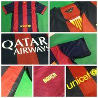 Wholesale Barcelona Soccer Jerseys Football Jersey Uniforms Kits Season Clothing Discount T Shirts Cheap Thailand Custom Tops Player Home