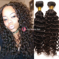 Deep Wave hair extension - 4pcs Curly Brazilian Virgin Hair Weave Deep Wave Unprocessed Human Hair Extensions g pc