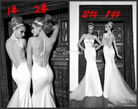 2014 Sexy Mermaid Lace Embroidery Applique Galia Lahav Grace...
