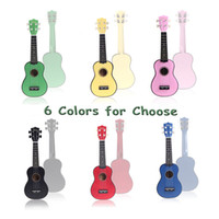 Wholesale Hot Homeland in Compact Ukelele Ukulele Basswood Soprano Acoustic Stringed Instrument Strings Candy Colors for Choose I334