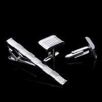 Neck Tie gift sets - 2014 New Elegant Mens Silver Gift Set Tie Clip and Cufflinks GA4011