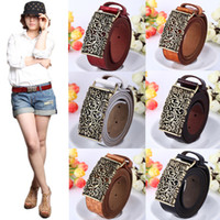 Wholesale New Stylish Vintage Women s Leather Hollow Out Waist Strap Belt Buckle Flower Emboss Print Waistband GA0031