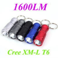 Wholesale 1600LM Modes LED Flashlight Torches Light CREE XM L T6 Mini White Light Switch Black Grey Blue Red Silver Led Spotlight Hiking H11057