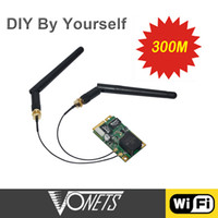 Wholesale 100 Original Vonets VM300 Mbps WiFi Module Repeater USB wi fi Router for DIY wi fi Bridge Support WiFi Channels Antennas C1924