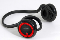 as manaul Bluetooth Headset  5574 Free shipping Bluetooth stereo headset MP3 E68 headphone computer headset Mp3 player red color