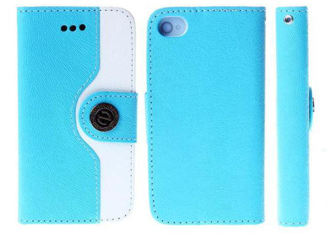 Buy Fashion Wallet Leather Flip Case Cover Card Slots iphone 5 5S 5C iPhone 4 4S Contrast Color N Word Buckle Phone