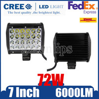 6000K atv quad - 72W CREE LED Quad Row Work Light Bar Combo Beam Off road Driving Truck ATV Lamp